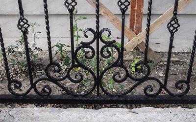 Kovácsoltvas kerítésbetét